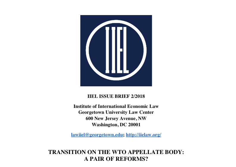 IIEL most recent issue brief, Chris Brummer comments