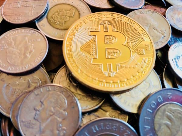 Pile of Bitcoin, related to Basel Committee statement on cryptocurrency