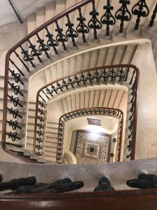 A staircase within the bank of England, where Professor Chris Brummer delivered his remarks