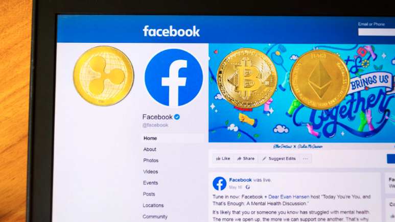 Screenshot of Facebook webpage  providing overview of cryptocurrency Libra