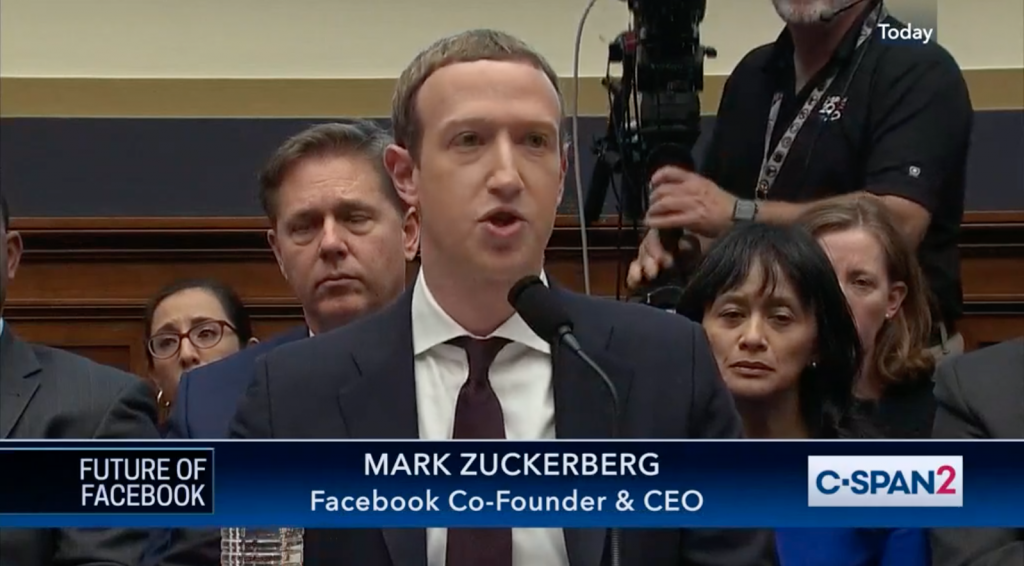 Mark Zuckerberg, Founder and CEO of Facebook, testifies before congress in a suit on Libra, the new cryptocurrency from Facebook