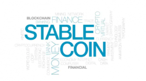 Stable Coin word cloud including terms like money, finance, etc.